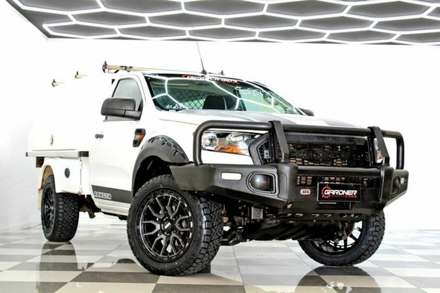 Used Ford Ranger PX MkII MY17 XL 2.2 Hi-Rider (4x2) Burleigh Heads, 2016 Ford Ranger PX MkII MY17 XL 2.2 Hi-Rider (4x2) White 6 Speed Automatic Cab Chassis