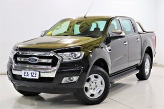 2017 Ford Ranger PX MkII XLT Double Cab Black/Grey 6 Speed Sports Automatic Utility.