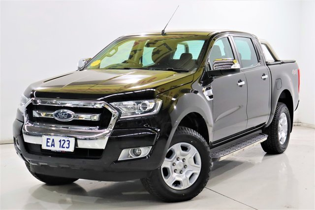 Used Ford Ranger PX MkII XLT Double Cab Brooklyn, 2017 Ford Ranger PX MkII XLT Double Cab Black/Grey 6 Speed Sports Automatic Utility