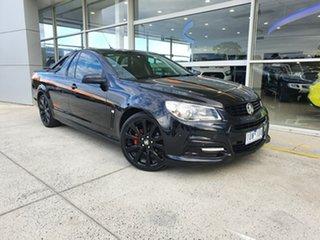 2015 Holden Ute VF MY15 SV6 Ute Sandman Black 6 Speed Sports Automatic Utility.
