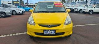 2007 Honda Jazz GD VTi Yellow 7 Speed Constant Variable Hatchback.