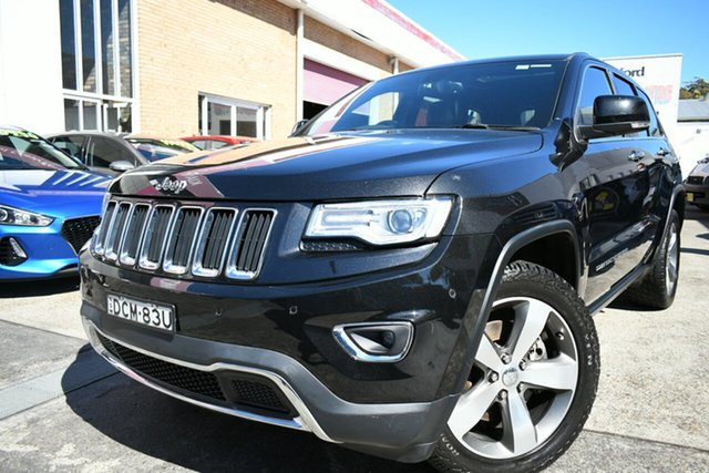Used Jeep Grand Cherokee WK MY15 Limited Narrabeen, 2015 Jeep Grand Cherokee WK MY15 Limited Black 8 Speed Sports Automatic Wagon