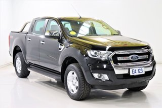 2017 Ford Ranger PX MkII XLT Double Cab Black/Grey 6 Speed Sports Automatic Utility