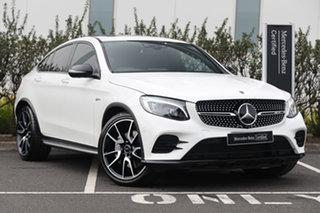 2018 Mercedes-Benz GLC-Class C253 809MY GLC43 AMG Coupe 9G-Tronic 4MATIC Polar White 9 Speed.