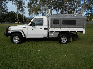 2012 Toyota Landcruiser VDJ79R 09 Upgrade GXL (4x4) White 5 Speed Manual Cab Chassis.