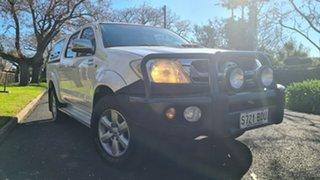 2011 Toyota Hilux KUN26R MY11 Upgrade SR5 (4x4) White 5 Speed Manual Dual Cab Pick-up.
