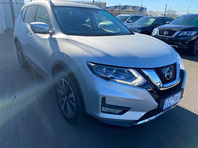 Used Nissan X-Trail T32 Series III MY20 Ti X-tronic 4WD Essendon Fields, 2020 Nissan X-Trail T32 Series III MY20 Ti X-tronic 4WD Silver, Chrome 7 Speed Constant Variable