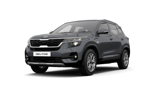 New Kia Seltos SP2 MY22 Sport+ 2WD Cardiff, 2021 Kia Seltos SP2 MY22 Sport+ 2WD Gravity Grey 1 Speed Constant Variable Wagon