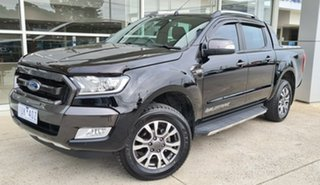 2017 Ford Ranger PX MkII Wildtrak Double Cab Black 6 Speed Sports Automatic Utility.