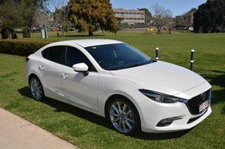 2018 Mazda 3 BN MY17 SP25 GT White 6 Speed Automatic Sedan.