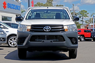 2016 Toyota Hilux TGN121R Workmate 4x2 White 6 Speed Sports Automatic Cab Chassis.