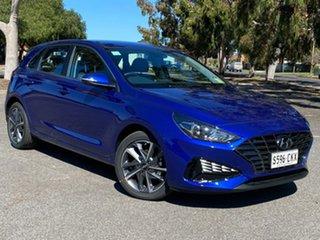 2021 Hyundai i30 PD.V4 MY21 Active Intense Blue 6 Speed Sports Automatic Hatchback.
