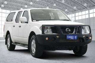 2015 Nissan Navara D40 S9 Silverline SE White 5 Speed Automatic Utility.