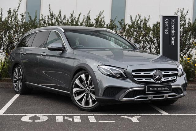 Certified Pre-Owned Mercedes-Benz E-Class S213 809MY E220 d All-Terrain 9G-Tronic PLUS 4MATIC Mulgrave, 2018 Mercedes-Benz E-Class S213 809MY E220 d All-Terrain 9G-Tronic PLUS 4MATIC Selenite Grey 9 Speed