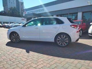 2017 Hyundai i30 PD MY18 SR D-CT Premium Ceramic White 7 Speed Sports Automatic Dual Clutch.