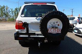 2001 Toyota Landcruiser HDJ100R GXL White 5 Speed Manual Wagon