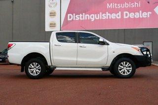 2014 Mazda BT-50 UP0YF1 XTR 4x2 Hi-Rider White 6 Speed Sports Automatic Utility.