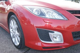 2009 Mazda 6 GH Luxury Sports Red 5 Speed Auto Activematic Hatchback.