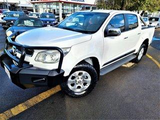 2013 Holden Colorado RG MY13 LTZ Crew Cab 4x2 White 6 Speed Sports Automatic Utility.