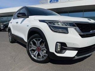 2020 Kia Seltos SP2 MY21 GT-Line DCT AWD White 7 Speed Sports Automatic Dual Clutch Wagon.