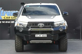 2018 Toyota Hilux GUN126R Rugged X Double Cab White 6 Speed Sports Automatic Utility.