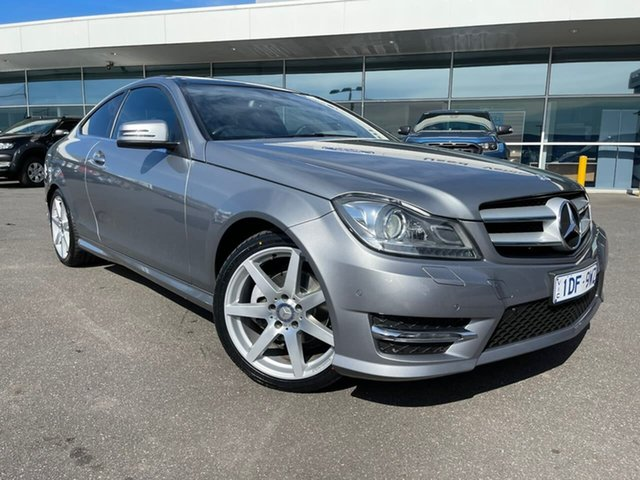 Used Mercedes-Benz C-Class C204 C180 7G-Tronic + Avantgarde Essendon Fields, 2015 Mercedes-Benz C-Class C204 C180 7G-Tronic + Avantgarde Silver 7 Speed Sports Automatic Coupe