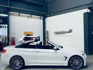 2017 BMW 4 Series F33 430i M Sport White 8 Speed Sports Automatic Convertible.