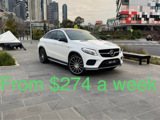 Used Mercedes-Benz GLE-Class C292 807MY GLE43 AMG Coupe 9G-Tronic 4MATIC South Melbourne, 2017 Mercedes-Benz GLE-Class C292 807MY GLE43 AMG Coupe 9G-Tronic 4MATIC White 9 Speed
