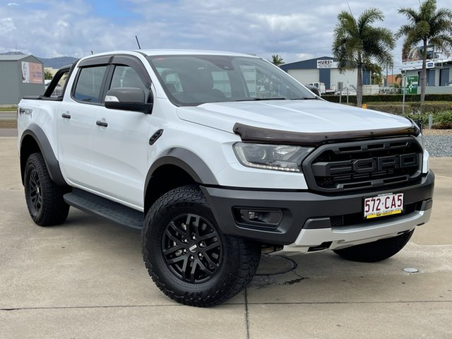 Used Ford Ranger PX MkIII 2019.00MY Raptor Townsville, 2018 Ford Ranger PX MkIII 2019.00MY Raptor White 10 Speed Sports Automatic Utility