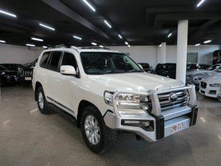 2019 Toyota Landcruiser VDJ200R Sahara White 6 Speed Sports Automatic Wagon.