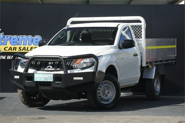 Used Mitsubishi Triton MQ MY18 GLX 4x2 Campbelltown, 2018 Mitsubishi Triton MQ MY18 GLX 4x2 White 5 Speed Sports Automatic Cab Chassis