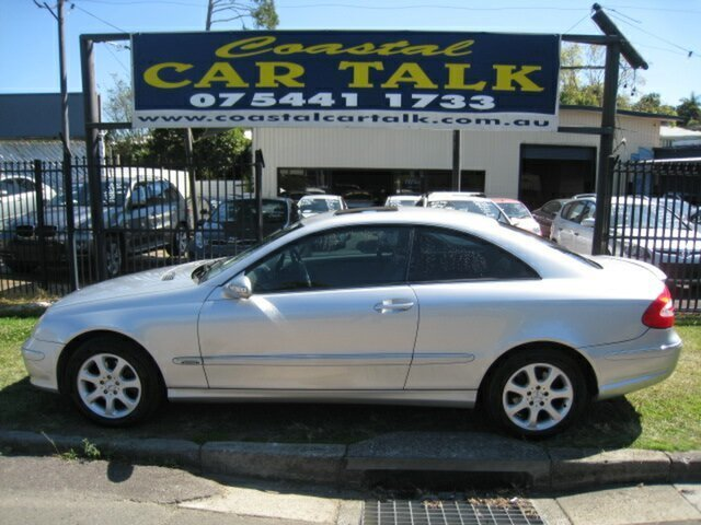 Used Mercedes-Benz CLK320 C209 Elegance Nambour, 2004 Mercedes-Benz CLK320 C209 Elegance Silver 5 Speed Auto Touchshift Coupe