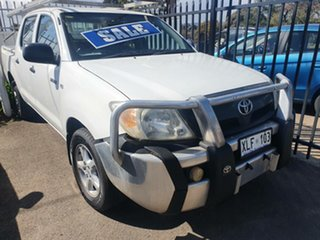2006 Toyota Hilux GGN15R MY05 SR 4x2 White 5 Speed Manual Utility.