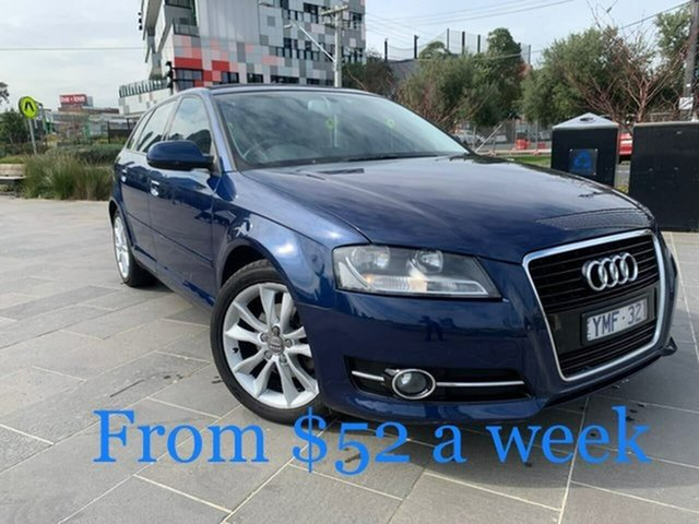 Used Audi A3 8P MY12 Ambition Sportback S Tronic South Melbourne, 2011 Audi A3 8P MY12 Ambition Sportback S Tronic Blue 7 Speed Sports Automatic Dual Clutch Hatchback