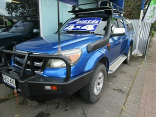 2009 Ford Ranger PJ XLT (4x4) Blue 5 Speed Automatic Dual Cab Pick-up.