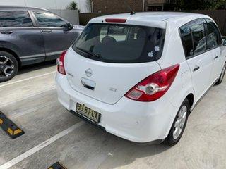2010 Nissan Tiida C11 MY07 ST White 4 Speed Automatic Hatchback.