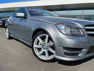 2015 Mercedes-Benz C-Class C204 C180 7G-Tronic + Avantgarde Silver 7 Speed Sports Automatic Coupe.