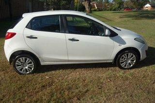 2010 Mazda 2 DE10Y1 MY10 Neo White 4 Speed Automatic Hatchback.