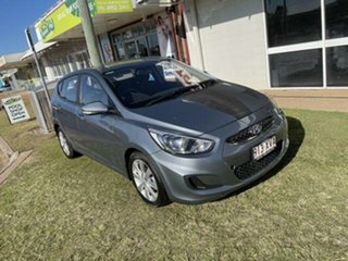 2018 Hyundai Accent Lake Silver 6 Speed Automatic Hatchback.