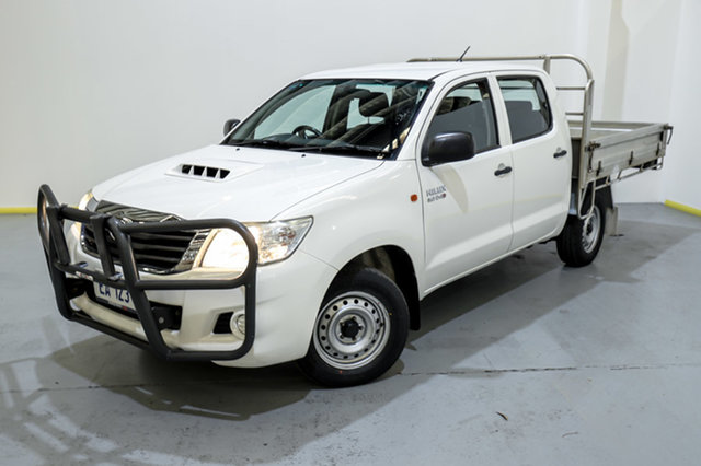 Used Toyota Hilux KUN16R MY12 SR Double Cab 4x2 Canning Vale, 2013 Toyota Hilux KUN16R MY12 SR Double Cab 4x2 White 5 Speed Manual Utility