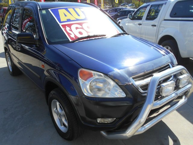 Used Honda CR-V RD MY2003 Sport 4WD Winter Classic Springwood, 2003 Honda CR-V RD MY2003 Sport 4WD Winter Classic Blue 4 Speed Automatic Wagon