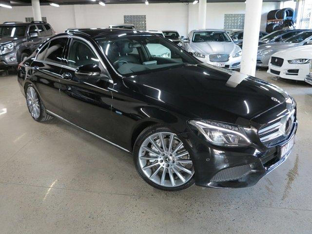 Used Mercedes-Benz C-Class W205 807+057MY C350 e 7G-Tronic + Albion, 2017 Mercedes-Benz C-Class W205 807+057MY C350 e 7G-Tronic + Black 7 Speed Sports Automatic Sedan