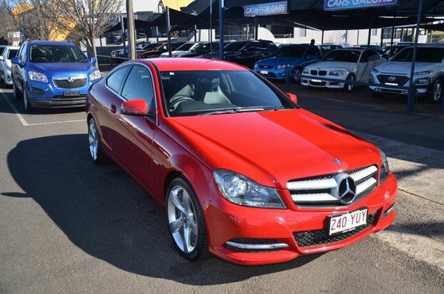 Used Mercedes-Benz C180 W204 MY11 BE Toowoomba, 2011 Mercedes-Benz C180 W204 MY11 BE Red 7 Speed Automatic G-Tronic Coupe