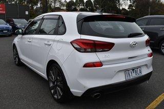 2017 Hyundai i30 PD MY18 SR D-CT White 7 Speed Sports Automatic Dual Clutch Hatchback.