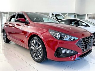 2021 Hyundai i30 PD.V4 MY21 Active Fiery Red 6 Speed Sports Automatic Hatchback.