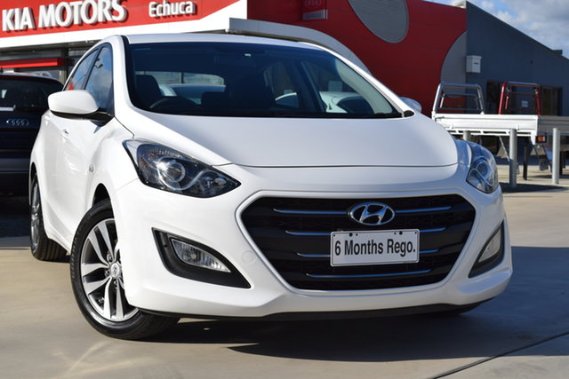 Used Hyundai i30 GD3 Series II MY16 Active Echuca, 2015 Hyundai i30 GD3 Series II MY16 Active White 6 Speed Sports Automatic Hatchback