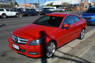 2011 Mercedes-Benz C180 W204 MY11 BE Red 7 Speed Automatic G-Tronic Coupe