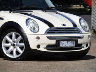 2005 Mini Cooper R50 Cream & Black Stripe 6 Speed CVT Auto Sequential Hatchback.