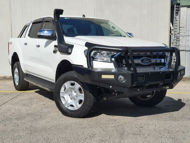 Used Ford Ranger PX MkII XLT Double Cab Oakleigh, 2016 Ford Ranger PX MkII XLT Double Cab White 6 Speed Manual Utility
