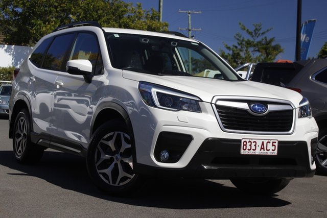 Used Subaru Forester S5 MY21 2.5i-L CVT AWD Mount Gravatt, 2020 Subaru Forester S5 MY21 2.5i-L CVT AWD White Pearl 7 Speed Constant Variable Wagon